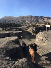 Mount Bromo Valley In Photo Frame