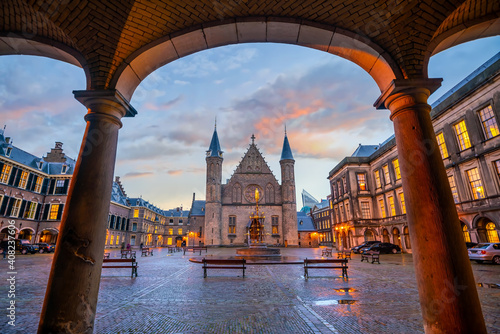 Fotografering Inner courtyard of the Binnenhof palace in the Hague, Netherlands