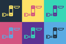 Pop Art Swiss Army Knife Icon Isolated On Color Background. Multi-tool, Multipurpose Penknife. Multifunctional Tool. Vector.