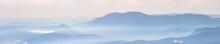 Beautiful Sunrise In The Mountains, Panorama Landscape