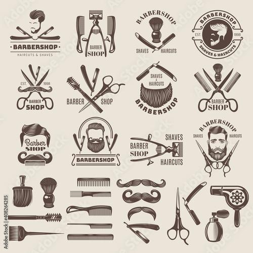 Photo Barber shop badges