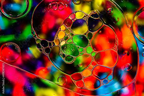 olejowy kolorowy podkład