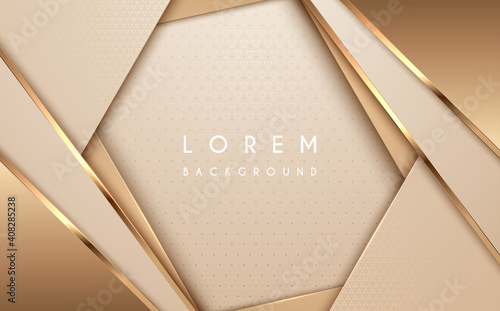 Fotografia Abstract gold and white luxury background