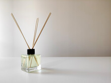 Room Smell Diffuser, Aromatic Reed Air Freshener On The Table