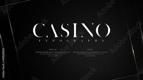 Carta da parati Elegant typography with shiny effect