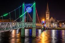 Greig Street Bridge Sobre El Rio Ness, Inverness, Highlands, Escocia, Reino Unido