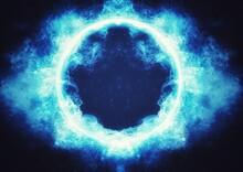 抽象的な青い惑星