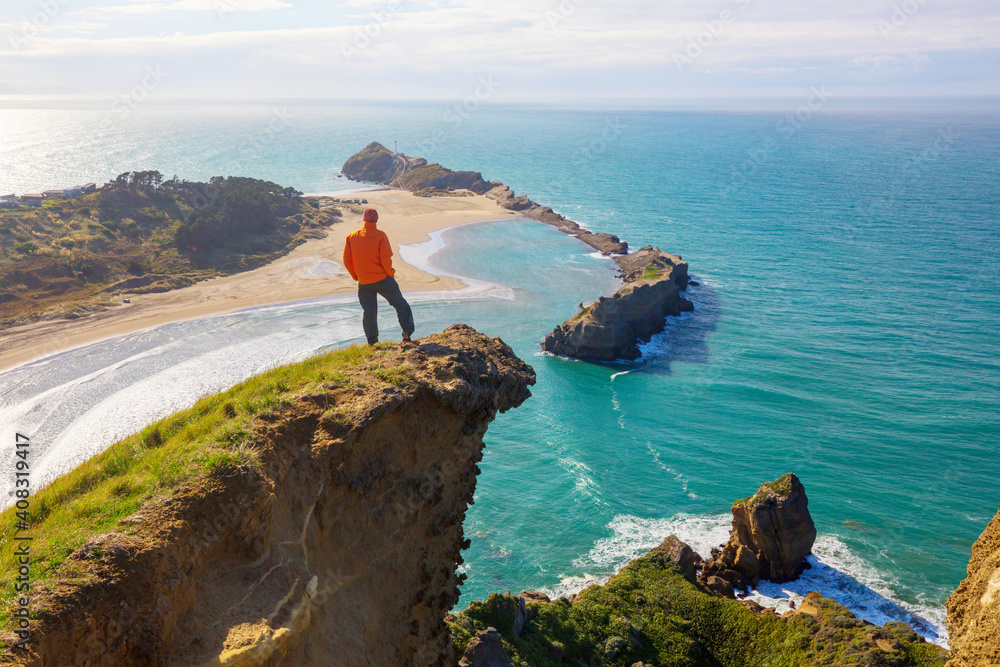 Obraz Hike in New Zealand coast fototapeta, plakat