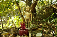 Child God At A Shrine In Jungle On Way To Mount Davis, Hong Kong