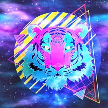 Cosmic Tiger Retro 80s Style
