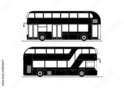 Fotomural Double decker bus