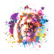 lion head with splashes