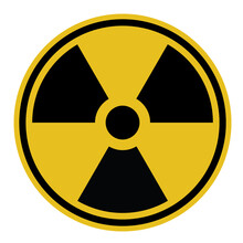 Radioactivity Symbol Illustration Black And Yellow Icon