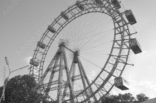 Fotografie, Obraz Diabelski młyn w Wiedniu