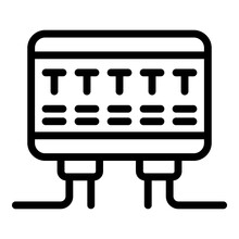 Circuit Breaker Panel Icon. Outline Circuit Breaker Panel Vector Icon For Web Design Isolated On White Background