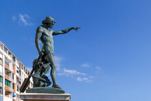 Genius Of Navigation, Toulon, France. Statue, Sculptured In 1847 In Honour Of King Louis Philippe.