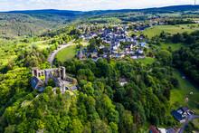 Scenic View Of Burg Hohenstein, Bad Schwalbach, Rheingau-Taunus-Kreis, Hesse, Germany