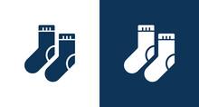 Socks Icon Illustration Isolated Vector Sign Symbol
