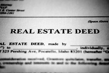 Real Estate Deed Transfer Of Land Or Property