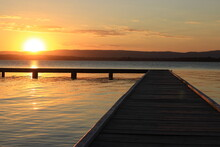 Sunset On The Jetty At Lake Macquarie