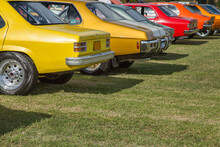 Colourful Vintage Cars On Display At Autofest