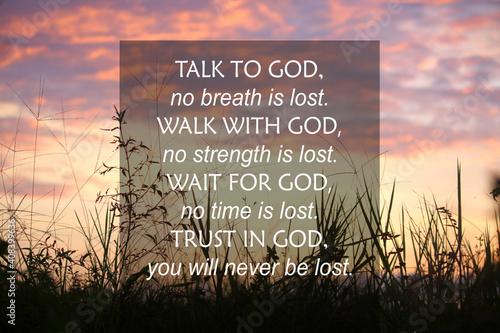 Cuadros en Lienzo Talk to God, no breath is lost