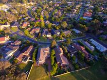 Aerial Shot Of Suburb