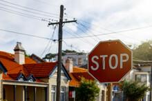 Stop Sign In Suburban Sydney