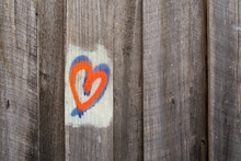 Love Heart Graffiti On Fence