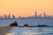 View Of Gold Coast Skyscrapers From Currumbin