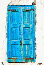 Greece, Cyclades Islands, Mykonos, Old Blue Door