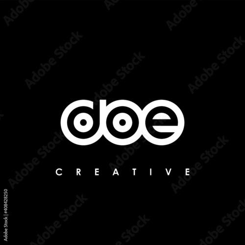 Photo DOE Letter Initial Logo Design Template Vector Illustration