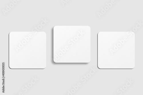 Obraz Realistic blank square business card illustration for mockup - fototapety do salonu
