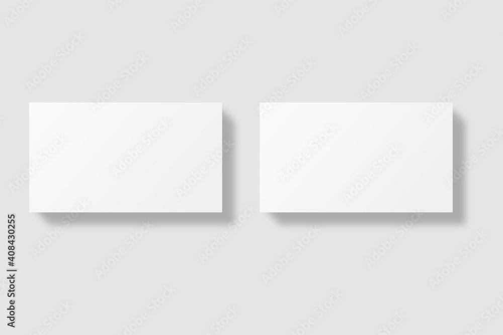 Fototapeta Realistic blank business card illustration for mockup