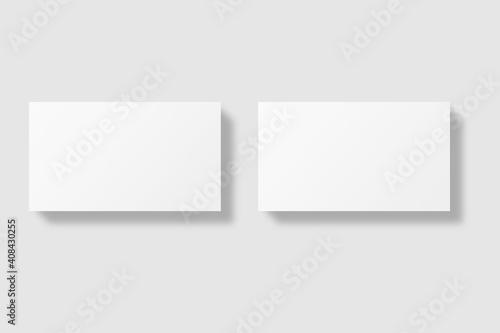 Obraz Realistic blank business card illustration for mockup - fototapety do salonu