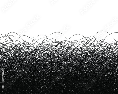 Black lines and thread background Wallpaper Mural