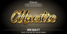 Editable Text Style Effect - Maestro Text Style Theme.