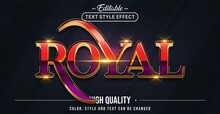 Editable Text Style Effect - Royal Text Style Theme.