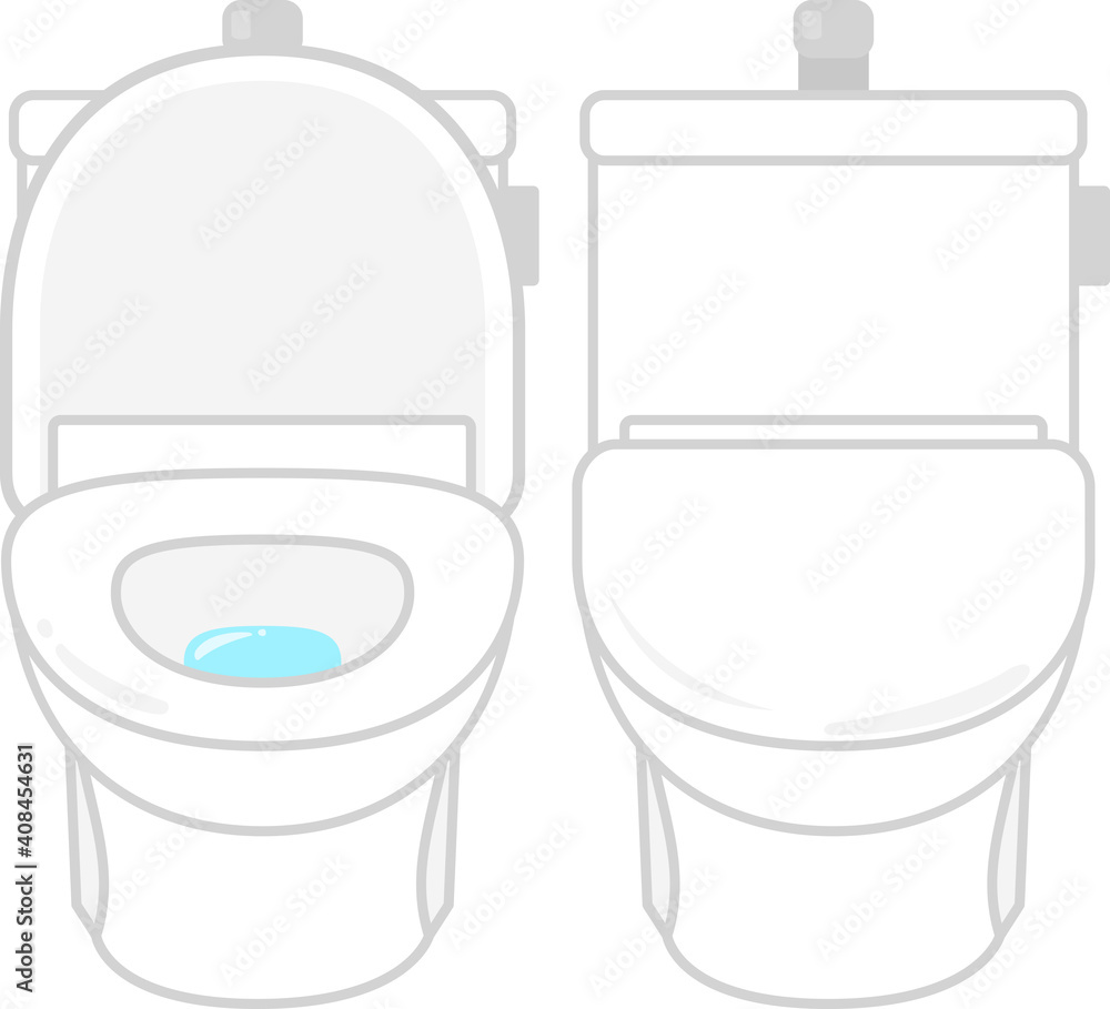 Fototapeta フタ付きの様式便座、トイレ