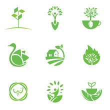 Eco Logo Design Template For Business And Company