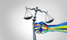 Social Change Law And Society Justice Concept As A Fist Representing Diversity And A Diverse Community Fighting For Changing Legislation As A Law Scale For Global Equality