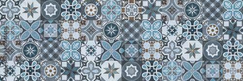 Fotografie, Obraz Seamless tiles background in portuguese style