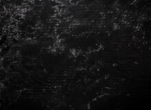 Abstract Black Background, Painted Wall In Garish Black Color
