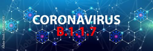 Fototapeta Coronavirus B.1.1.7
