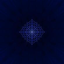 Illustration Of The Abstract Blue Mandala Background