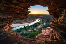 Sunrise At Natures Window In Kalbarri National Park, Western Australia