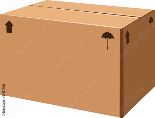 carton box container three dimensional object mockup