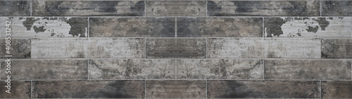 Canvas Print Old gray grey brown white worn damaged grunge concrete cement natural stone tile