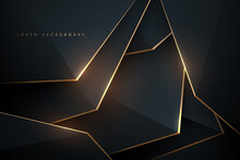 Black And Gold Abstract Shapes Background