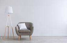 Modern Scandinavian Parlor Or Home Office Interior